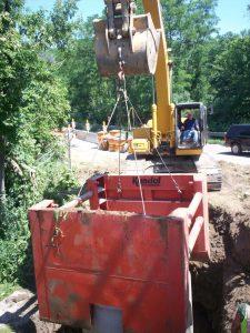 installing trench box